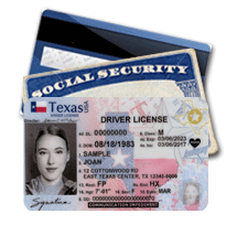 License, Social Security, Credit Card